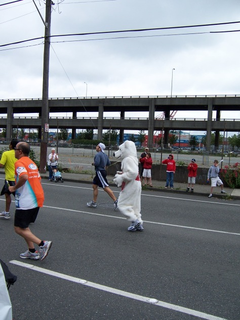 If I had known a polar bear was beating me, I would have been even more demoralized.