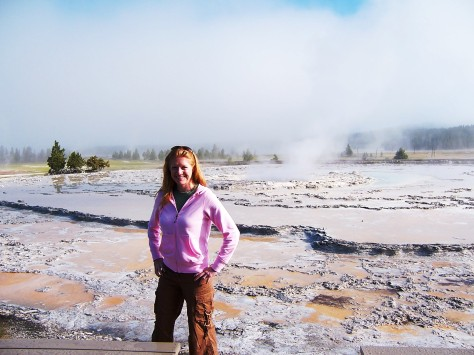Wife at Great Fountain Geyser
