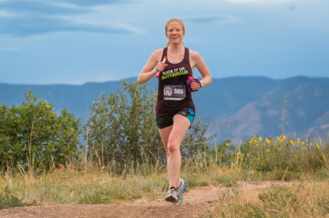 I even ran a trail RACE! At NIGHT! Photo credit: Chris Boyack of Colorado Photo Company