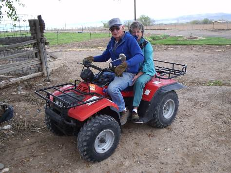 These are my awesome grandparents. I love this picture because it's just the two of them, doing chores on the farm and hanging out because they want to be together. Also, Grandma's hand is unintentionally on Grandpa's bum.