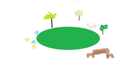 Since there's no real yard yet, I drew you a picture. It's okay to be amazed by my Paint skills.