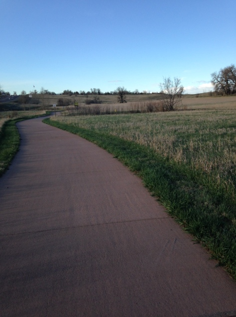 I love Fort Collins and its ubiquitous bike paths. It makes running so nice.