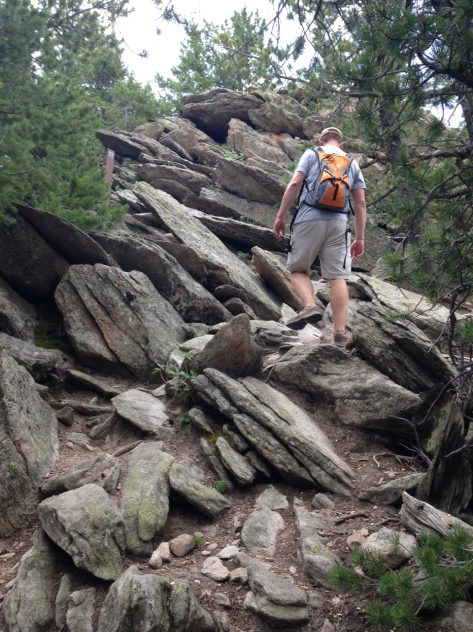 Hiking up Black Bear Trail required a bit of bouldering.