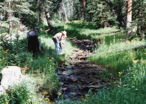 Cass & Terry fishing Roubidou Canyon